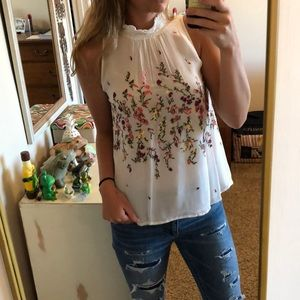 Beautiful hand stitched Anthropologie top